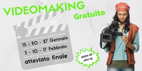 Corso Video Making Gratuito biglietti