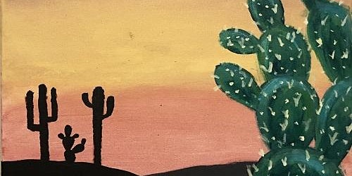 San Diego Best Paint and Sip Event 'Cosmic Cactus'