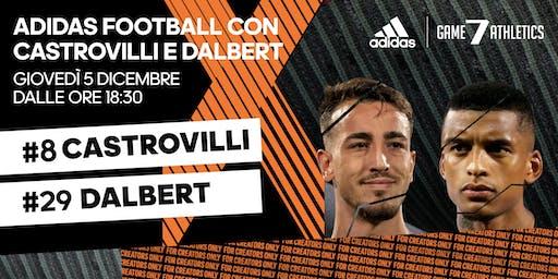 adidas football con Castrovilli e Dalbert