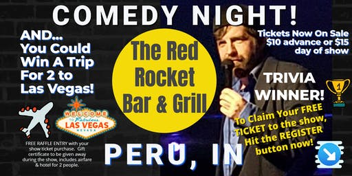 Red Rocket Bar & Grill (Peru, IN) presents COMEDY NIGHT w/The Mighty JerDog