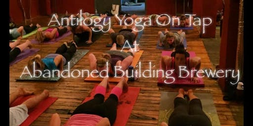 Yoga and Beer at Abandoned Building Brewery January 2020