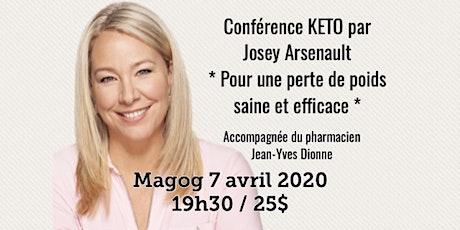 MAGOG - Conférence KETO - Pour une perte de poids saine et efficace! 25$ billets