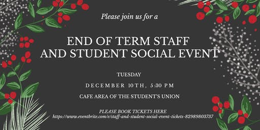 Student and staff social event