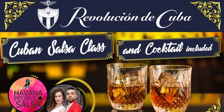 Cuban Salsa Class y Welcome Cocktail  at Revolucion de Cuba tickets