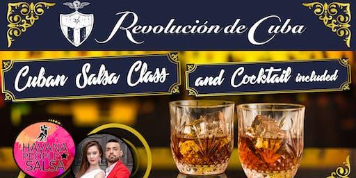 Cuban Salsa Class y Welcome Cocktail  at Revolucion de Cuba