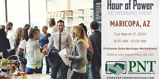 03/17/20 - PNT Maricopa - Hour of Power Networking Event