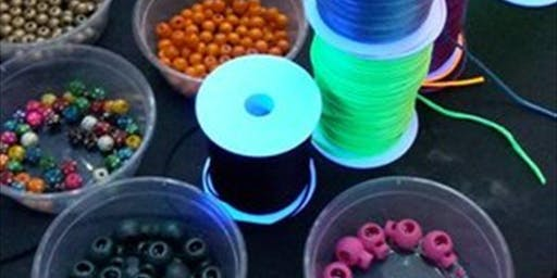 Children's Glowing Bead Workshops for Illuminate Light Festival