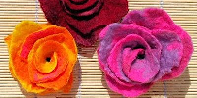 Felting - A Spring Bloom - Mansfield Central Library - Community Learning
