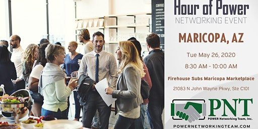 05/26/20 - PNT Maricopa - Hour of Power Networking Event