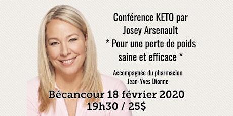 BÉCANCOUR - Conférence KETO Pour une perte de poids saine et efficace! 25$ billets