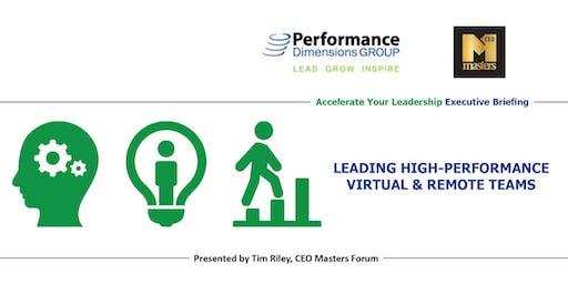 Leading High-Performance Virtual & Remote Teams