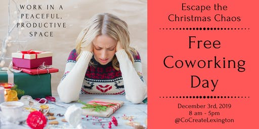 Free Coworking Day: Escape the Christmas Chaos