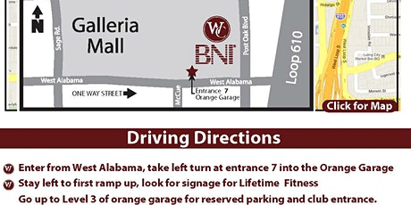 BNI 'Winners Circle' Galleria tickets