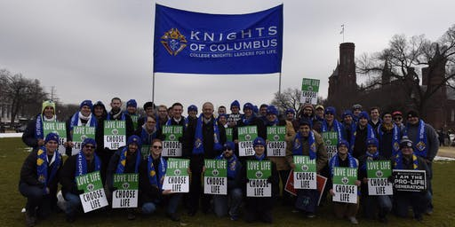 College Knights at the 2020 March for Life