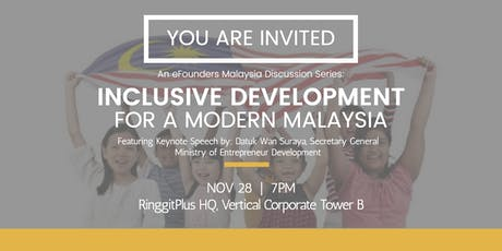Inclusive Development for a Modern Malaysia - Ensuring Shared Prosperity tickets