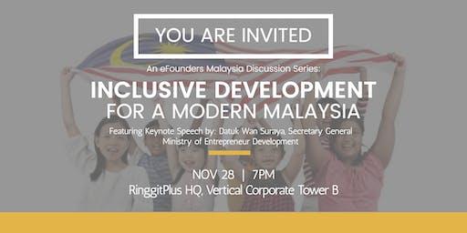 Inclusive Development for a Modern Malaysia - Ensuring Shared Prosperity