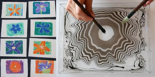 Winter Art Workshop Series: Suminagashi: Japanese Paper Marbling