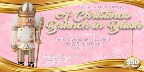 "Women of P.O.W.E.R. ""A Christmas Brunch in Blush"" tickets"