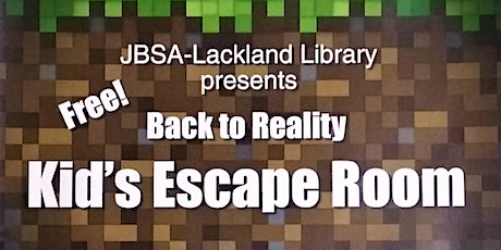 """""""Back To Reality"""" Escape Room tickets"""