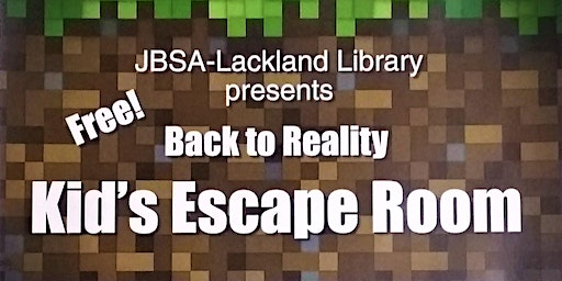 """""""Back To Reality"""" Escape Room"""