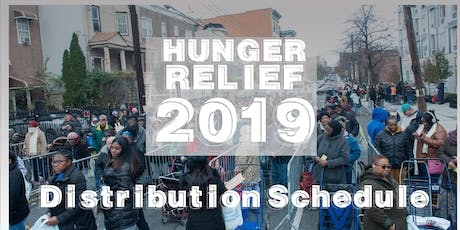 Hunger Relief Distribution Schedule tickets