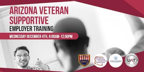 Arizona Veteran Supportive Employer Training at UAT tickets