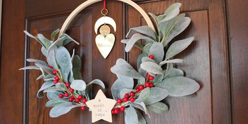 Noonday Collection Wreath DIY Night