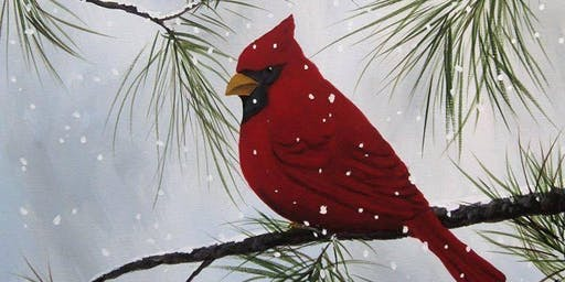 Winter Cardinal Canvas Painting