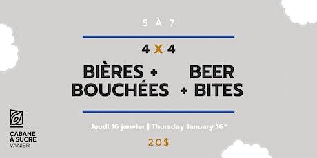 5 à 7 - Bières et bouchées | Beer & bites tickets
