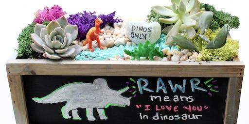 Blindman Brewing Plant Nite - RAWR! Dino Chalkboard Garden