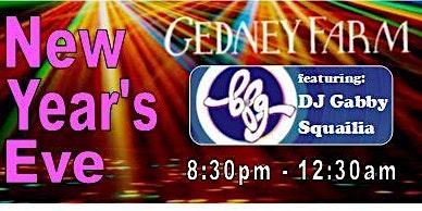 New Year's Eve at Gedney Farm: featuring DJ BFG!