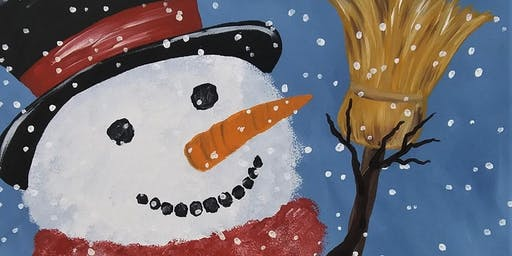 Frosty the Snowman Canvas Painting Workshop