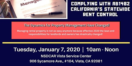 Property Management - Complying With California's Rent Control tickets