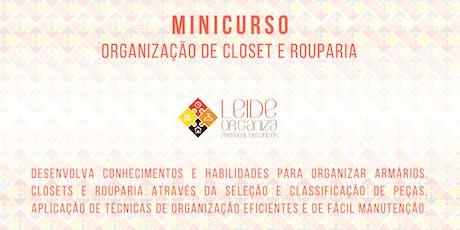Mini Curso Organização para Closet e Rouparia Leide Organiza ingressos