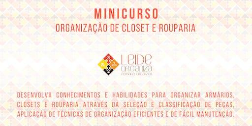 Mini Curso Organização para Closet e Rouparia Leide Organiza