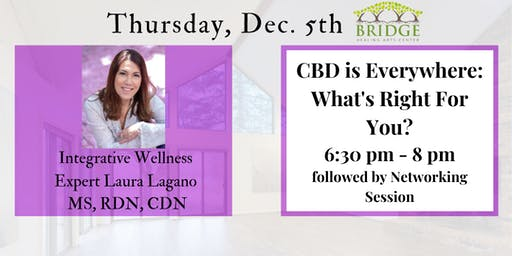 CBD is Everywhere: What's Right for You-  Author & Expert Laura Lagano