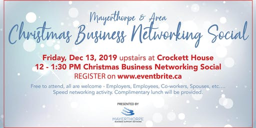 Mayerthorpe Christmas Business Networking Social