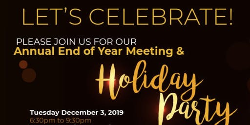 2019 End of Year Meeting/Holiday Party