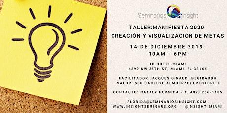 Taller: Manifiesta 2020 Creación y Visualización de Metas tickets
