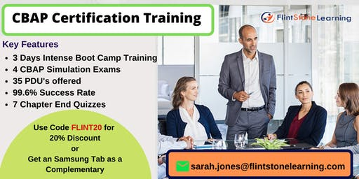 CBAP Certification Classroom Training in Aptos, CA