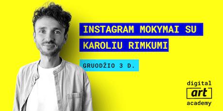 Instagram mokymai tickets