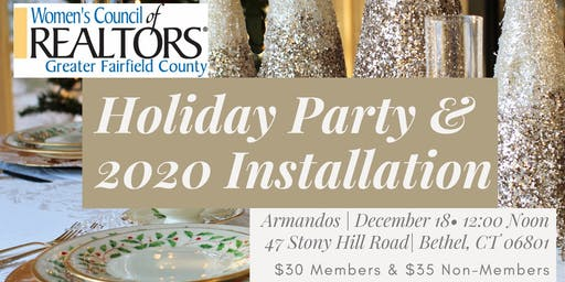 Women's Council of Realtors Holiday Party and 2020 Officer Induction