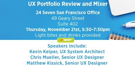 UX Portfolio Review and Mixer with 24 Seven Talent SF tickets