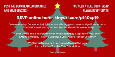Post 140 Buckhead 2019 Christmas Party tickets