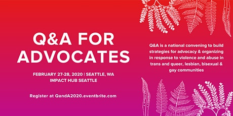 Q&A for Advocates: 2020 National Training Summit tickets