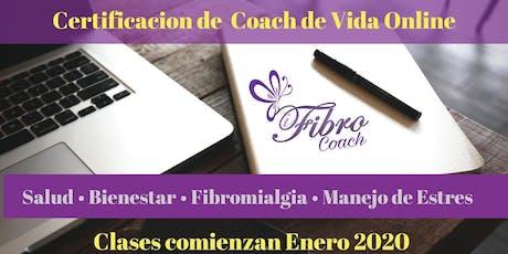 Certificación Coach de Fibromialgia & Manejo de Estrés tickets