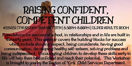 Raising Confident, Competent Children  tickets