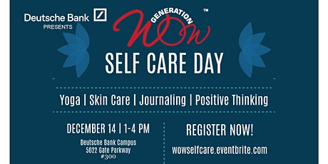 Generation WOW Self-Care Saturday with Deutsche Bank tickets