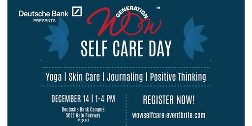 Generation WOW Self-Care Saturday with Deutsche Bank