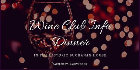 Dinner In The Historic Buchanan House tickets